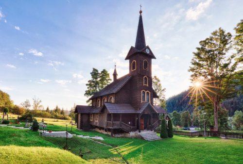 Drevený kostolík Tatranská Javorina